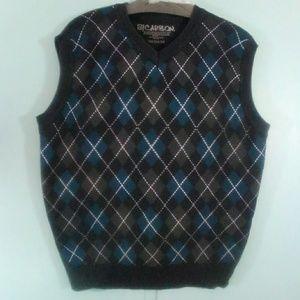 Carbon NWOT Medium Sweater Argyle Vest